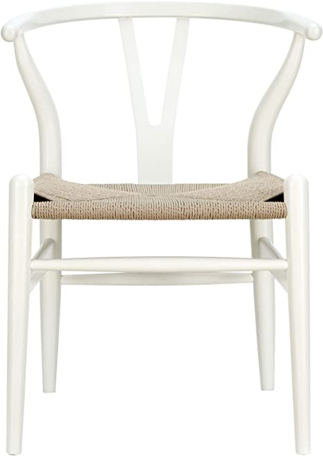 Amazon Com Modway Amish Mid Century Wood Kitchen And Dining Room Chair In White Chairs