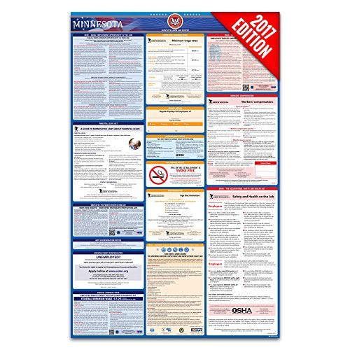 2017 Minnesota Labor Law Poster – State & Federal Compliant – Laminated
