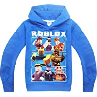 Thombase Niños Roblox Jugador Pull-Over Sudaderas con Capucha Red Nose Day Cool Juego Pull-Over para Adolescent
