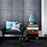 76 sq.ft rolls Made in Italy Portofino wallcoverings modern embossed Vinyl Non-Woven Wallpaper gray blue metallic stripes striped textured lines coverings for walls 3D strippable washable geometric