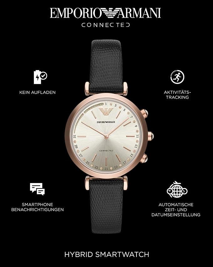 Emporio Armani Smartwatch para para Mujer con Correa en Cuero ...