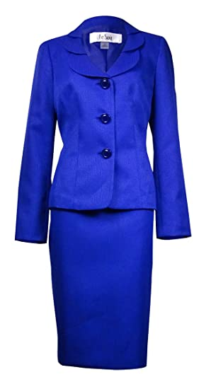 Amazon Com Le Suit Women S Quebec Layered Collar Jacquard Skirt