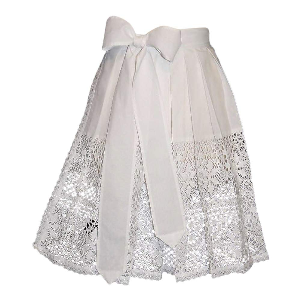 US size 10-16 16 German White Lace Apron for Dirndl