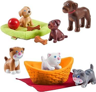 HABA Little Friends Katzenbabys, Hundebabys mit Hund Dusty