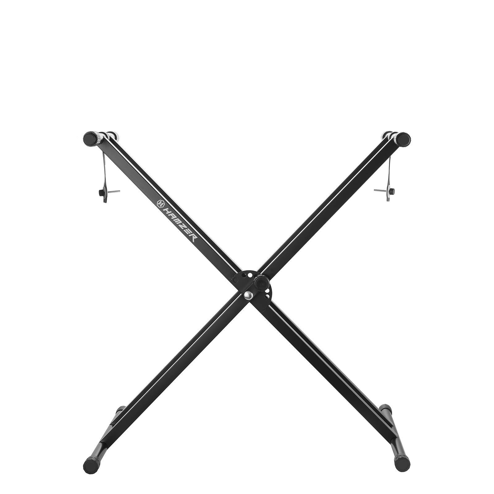 Hamzer Premium Heavy Duty Double Braced Adjustable X2 Style Music Piano Keyboard Stand by Hamzer (Image #3)