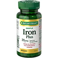 Gentle Iron Supplement, Helps Prevent Iron Deficiency Anemia, 28mg, 90 Capsules