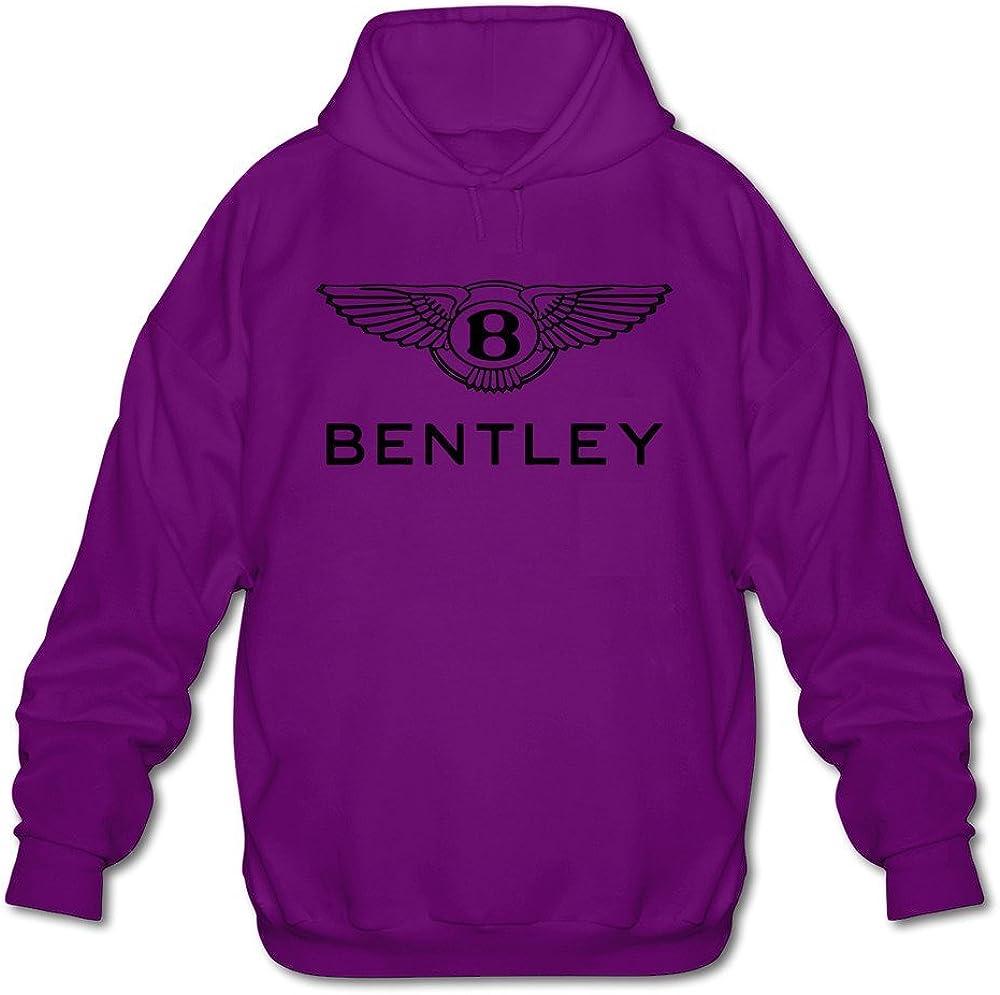Mens Bentley Logo Long Sleeve Hooded Sweatshirt White