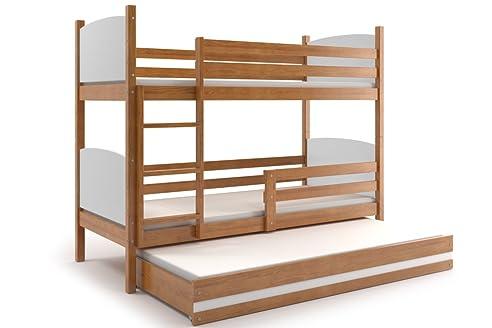 Etagenbett Drei Kinder : Etagenbett tami für drei kinder farbe erle cm mit