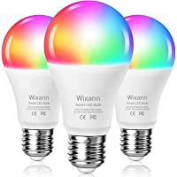 3-Pack Wixann Smart Wi-Fi RGBCW Color Changing LED Bulb