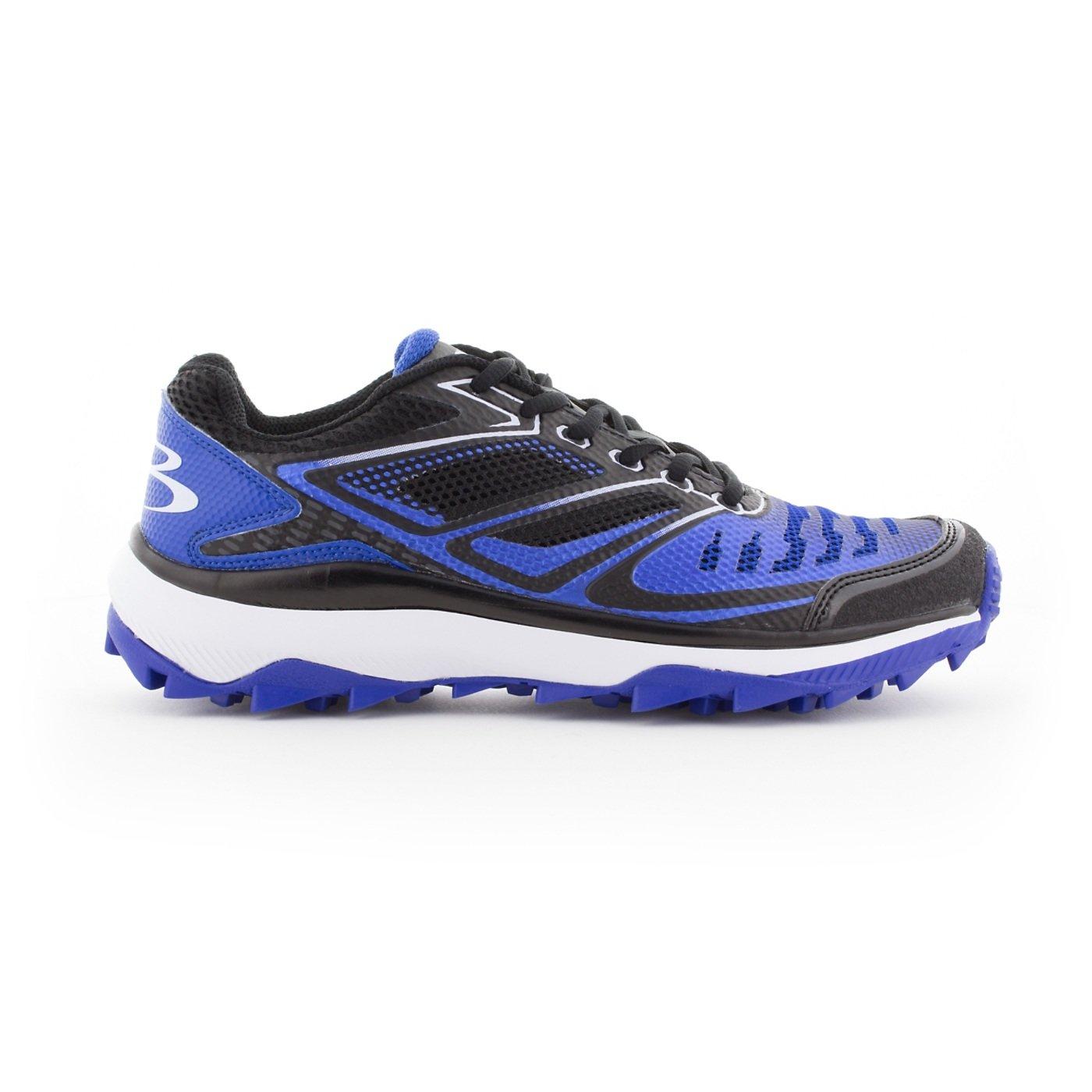 BoombahメンズTurbine Turf Shoes – 20カラーオプション – 複数のサイズ B076JQDFXB 12|ブラック/ロイヤル(royal) ブラック/ロイヤル(royal) 12