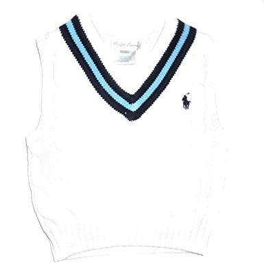 17e20e133857 NEW Genuine RALPH LAUREN Baby Boys White Cable Knit Tank Top Sweater ...