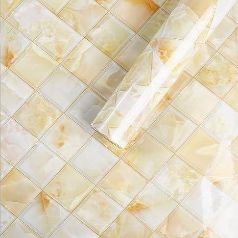 Amazoncom Emoyi Light Yellow Mosaic Pattern Paper Self