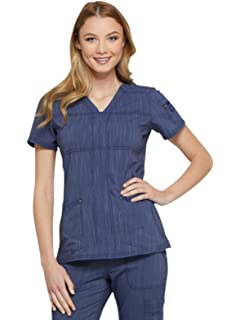 623ddf70c43 Amazon.com: Dickies Advance Women's Snap Front Solid Scrub Jacket ...