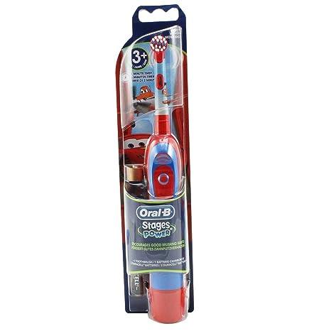 Braun Oral-B Stages Power - Cepillo de dientes eléctrico para niños (con temporizador), diseño de Cars