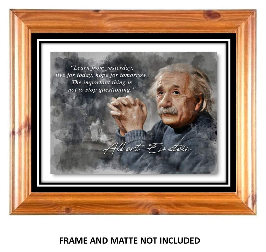 Gift for Physicists 8 x 10 Unframed Print Living Rooms Offices Hope Albert Einstein Inspirational Quote Scientist and Teachers Wall Art for Bedrooms Live Ramini Brands Learn