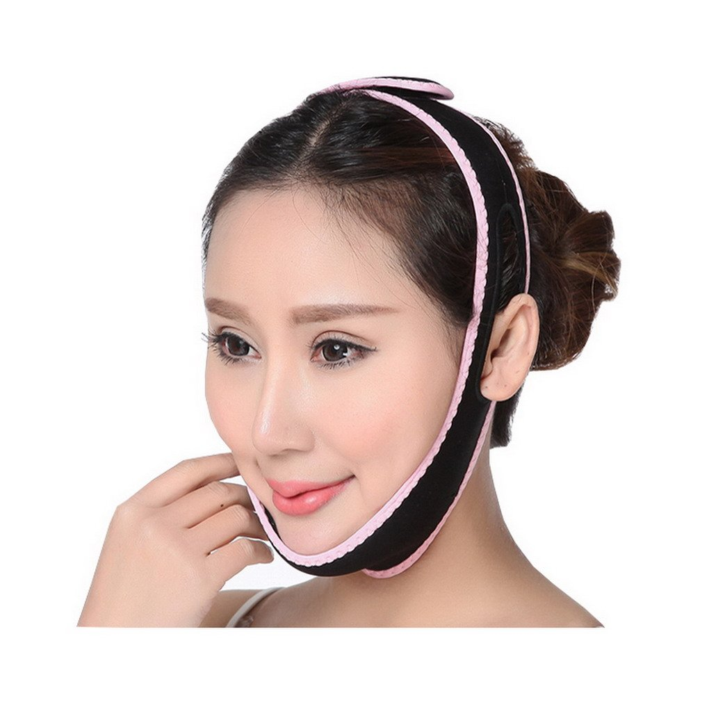 Premewish Gesichts-Abnehmen Gesichtsformer Lift Up Wange Maske gegen Falten und Doppelkinn AZD15009