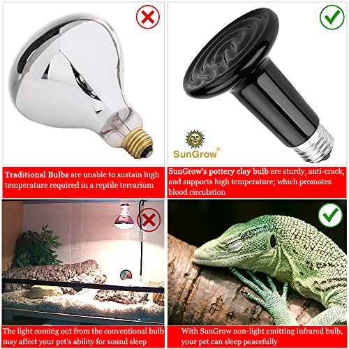 Pictures of SunGrow 110V Ceramic Heating Lamp - 150W Infrared 5