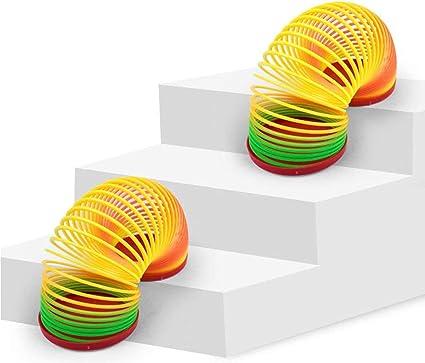 Herefun 12 St/ück Regenbogenspirale Passend f/ür Kinder /über 5 Jahre alt Geburtstagsgeschenk Regenbogenspirale f/ür Kinder Leuchtspielzeug Regenbogenspirale Spielzeug Mini Spirale Magic Springs