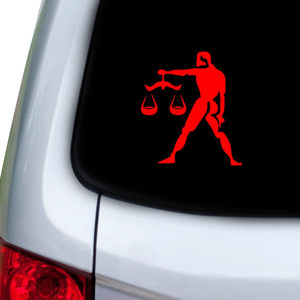 Hoods Red StickAny Car and Auto Decal Series Libra Picture Sticker for Windows Doors