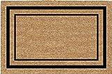 Coco Mats N More Plain Coir Entrance Mat / Doormat – Black Classic Border 38'' X 60''