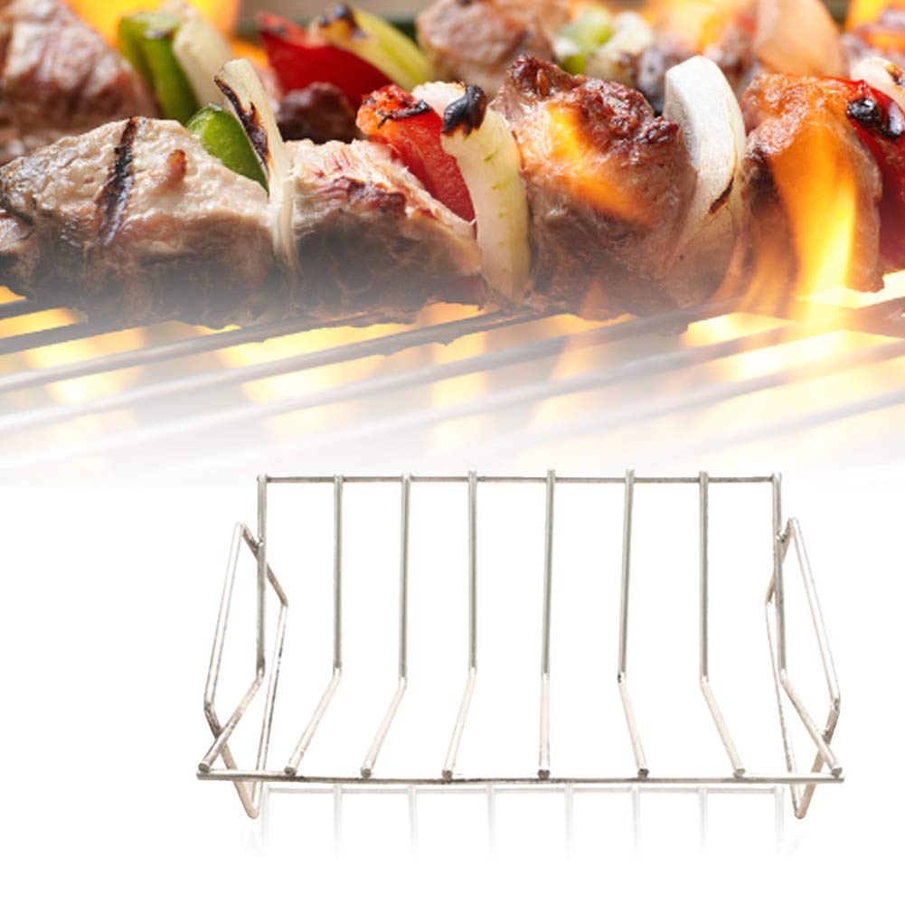 Professional for Stone Outdoor Grills, Outdoor Stainless Steel Dual Purpose Stand Barbecue Holder Non Toxic - Royal BBQ, Iron Grill Racks, Ribs Racks, Double Basket Deep Fryers, Outdoor Cookers by Unknown