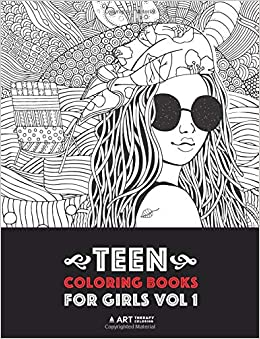 Teen Coloring Books For Girls: Vol 1: Detailed Drawings for ...