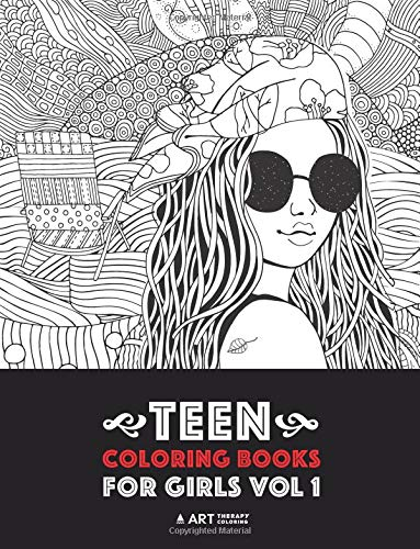 Teen Coloring Books For Girls Vol 1 Detailed Drawings For