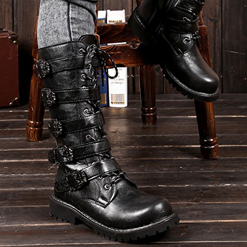 WHENOW Men's Shoes Winter Fashion Outdoor Combat Boots - stylishcombatboots.com