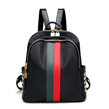 13101ca4e161 Amazon.com  Mynos Fashion Luxury Designer Women Small Backpack Bag Ladies  Backpack (Red and green)  Clothing