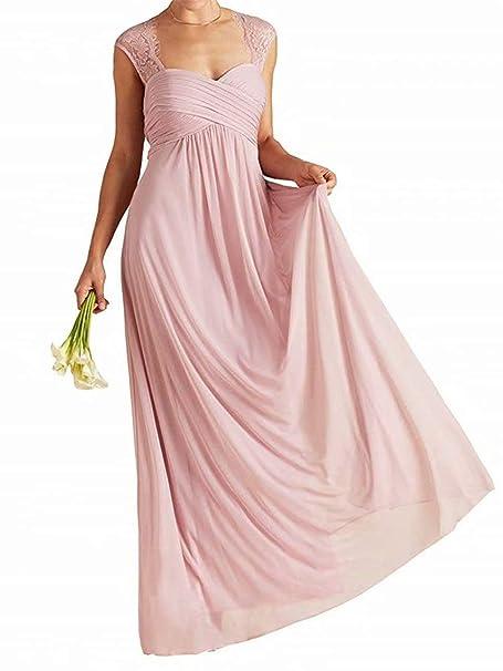 Pink Chiffon Beach Wedding Dresses