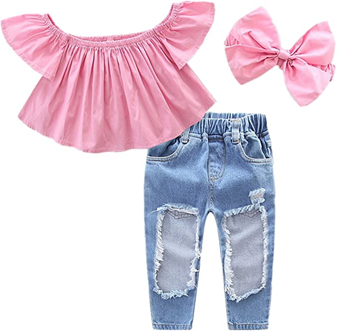 puseky - Chándal - para niña Pink+Jeans 4-5 Años: Amazon.es: Ropa ...
