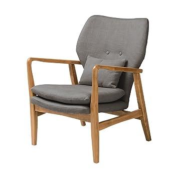 Fusion Gris tapizado de Mediados del Siglo sillón ...