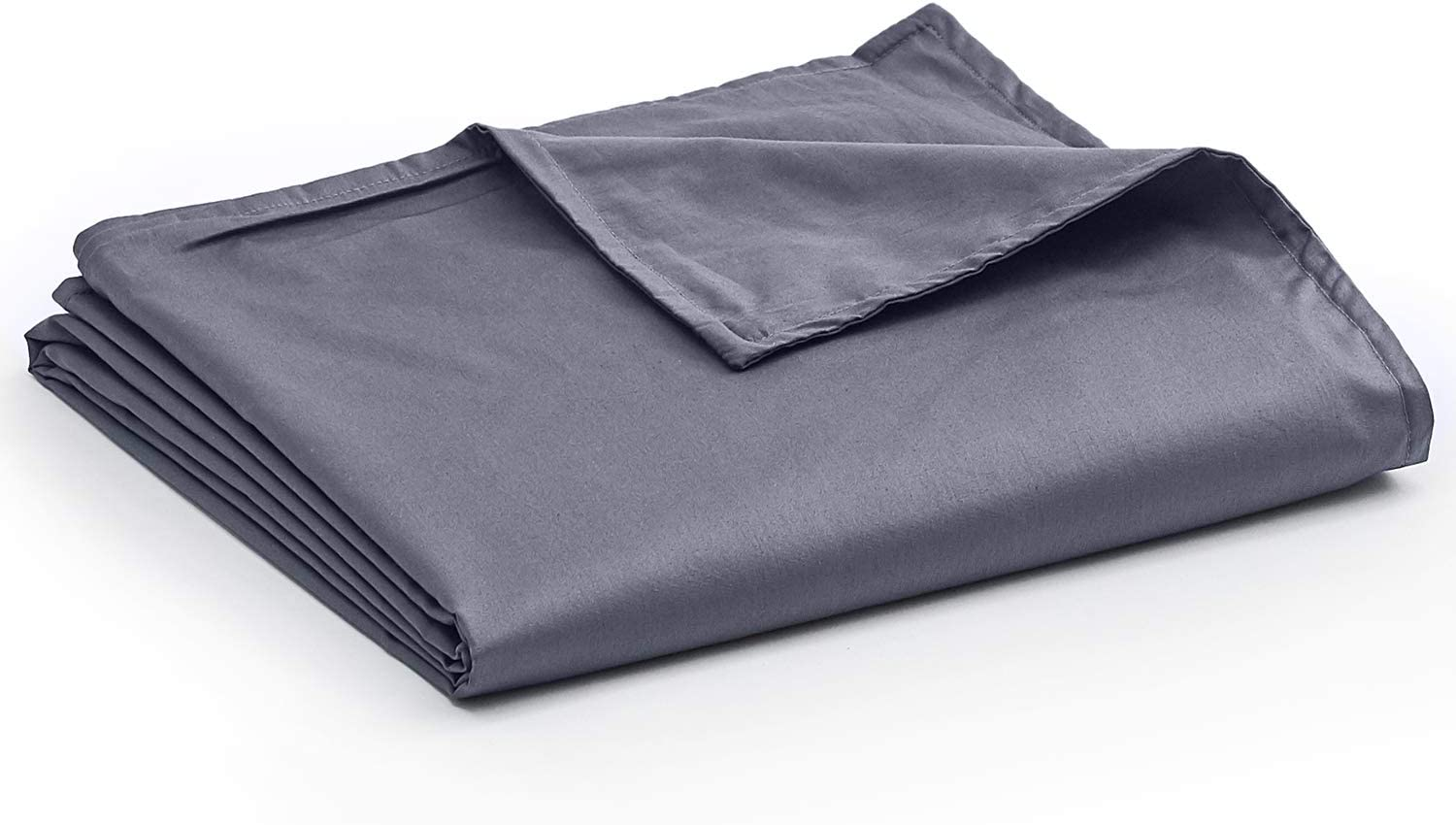 YnM Cotton Duvet Cover for Weighted Blankets (48''x72'') - Dark Grey Print