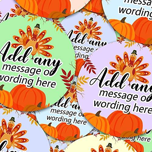 - Graphic Flavor Thanksgiving Happy Turkey Personalized Sticker Labels (35 Stickers @ 1.4