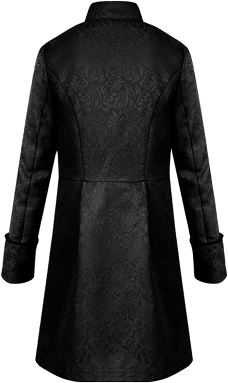 Men's Steampunk Coat Colonial Jacket Vintage Medieval Victorian Costume Tailcoat: Clothing