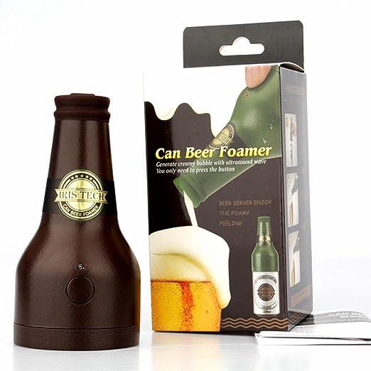 TAOtTAO - Espuma de Cerveza ultrasónica Portátil con Forma de Botella de Cerveza para Hacer Bebidas, 0.42, Color Marrón: Amazon.es: Deportes y aire libre