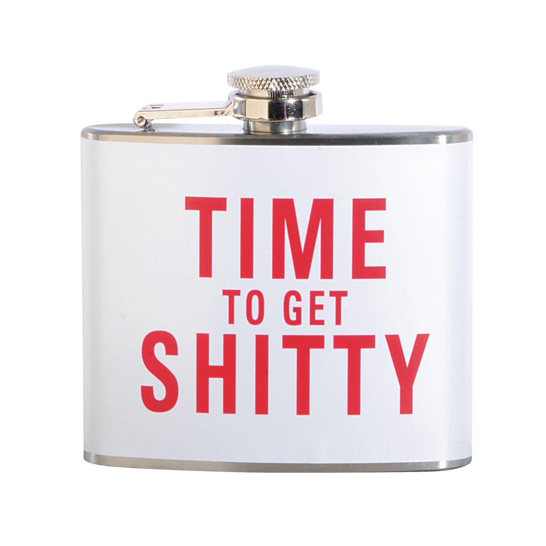 【期間限定送料無料】 Time to Time Shitty Get Shitty to 5オンスステンレス鋼フラスコ B071724HFY, 天竜市:f986017f --- a0267596.xsph.ru