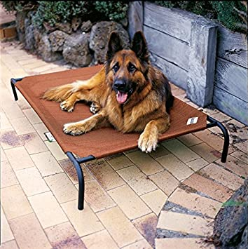 Coolaroo Elevated Cot Style Pet Bed w/Knitted Fabric - Terracotta