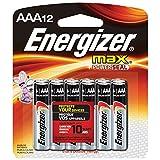 Energizer E92BP12 Max AAA Alkaline Batteries AAA-12
