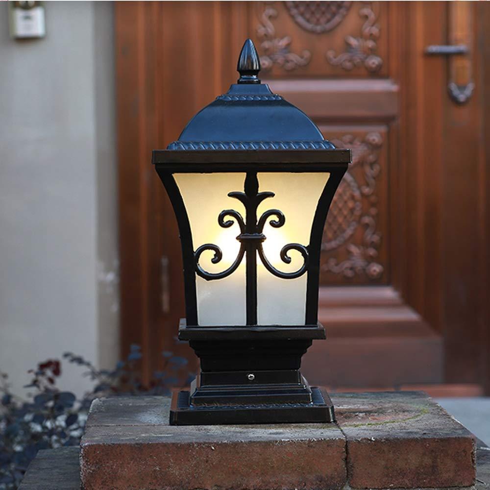 Modenny Scrub Vintage Lampe Verre Étanche Extérieur Pilier Aluminium lKJFc15u3T