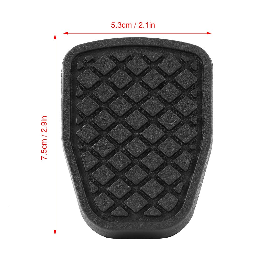1Pair Clutch and Brake Pedal Pad,Keenso Rubber Brake Pedal Pad for Subaru Forester IMPREZA Legacy Outback WRX