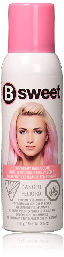 Amazon Com B Sweet By Punky Pastel Temporary Hair Color Spray Pale Pink 3 5 Oz Beauty