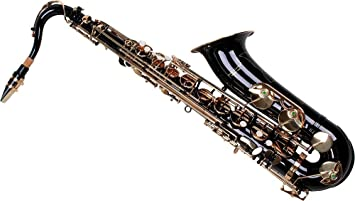Karl Glaser Saxofón Tenor, negro/oro, con maletas
