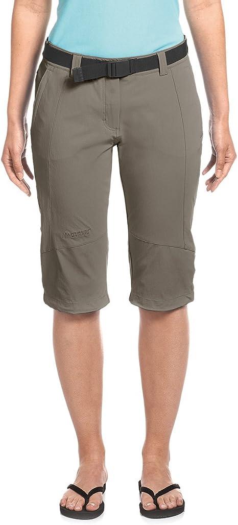 MAIER SPORTS Damen Bermuda Lawa aus 90% PA 10% EL in 25 Größen, Outdoorhose Funktionshose Shorts inkl. Gürtel, bi elastisch, schnelltrocknend und