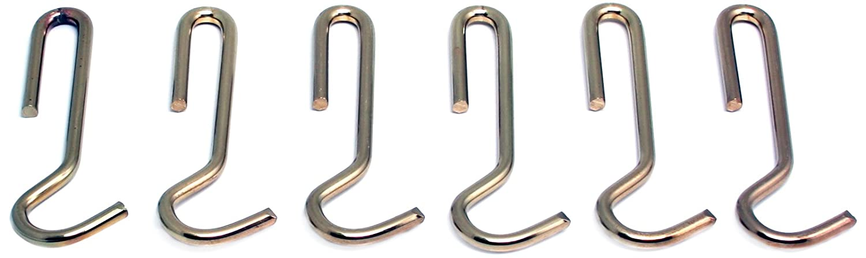Amazon.com: 6 Straight colgar Pot rack ganchos, Hammered ...
