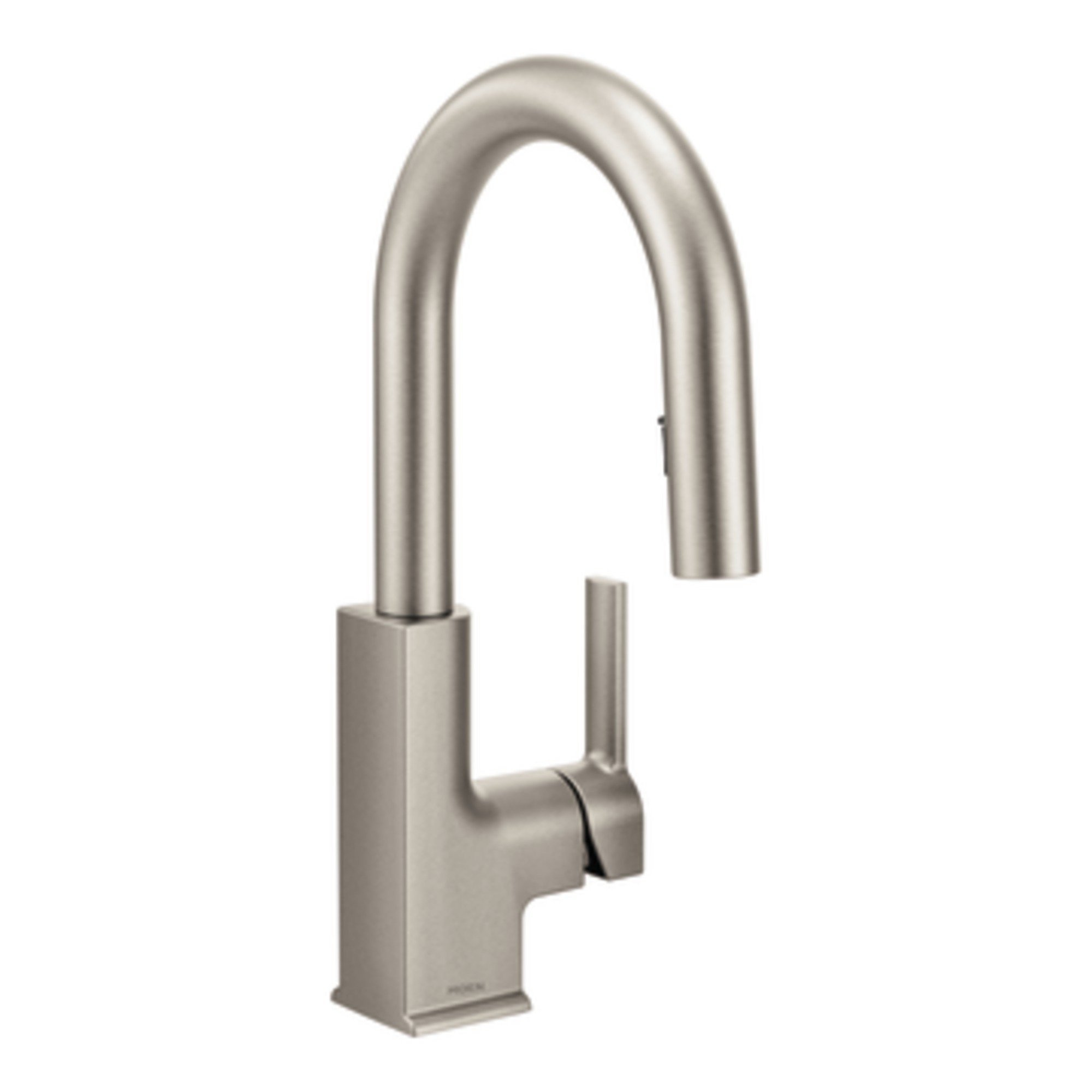 Moen S62308SRS STO One-Handle High Arc Pulldown Bar Faucet, Spot Resist Stainless