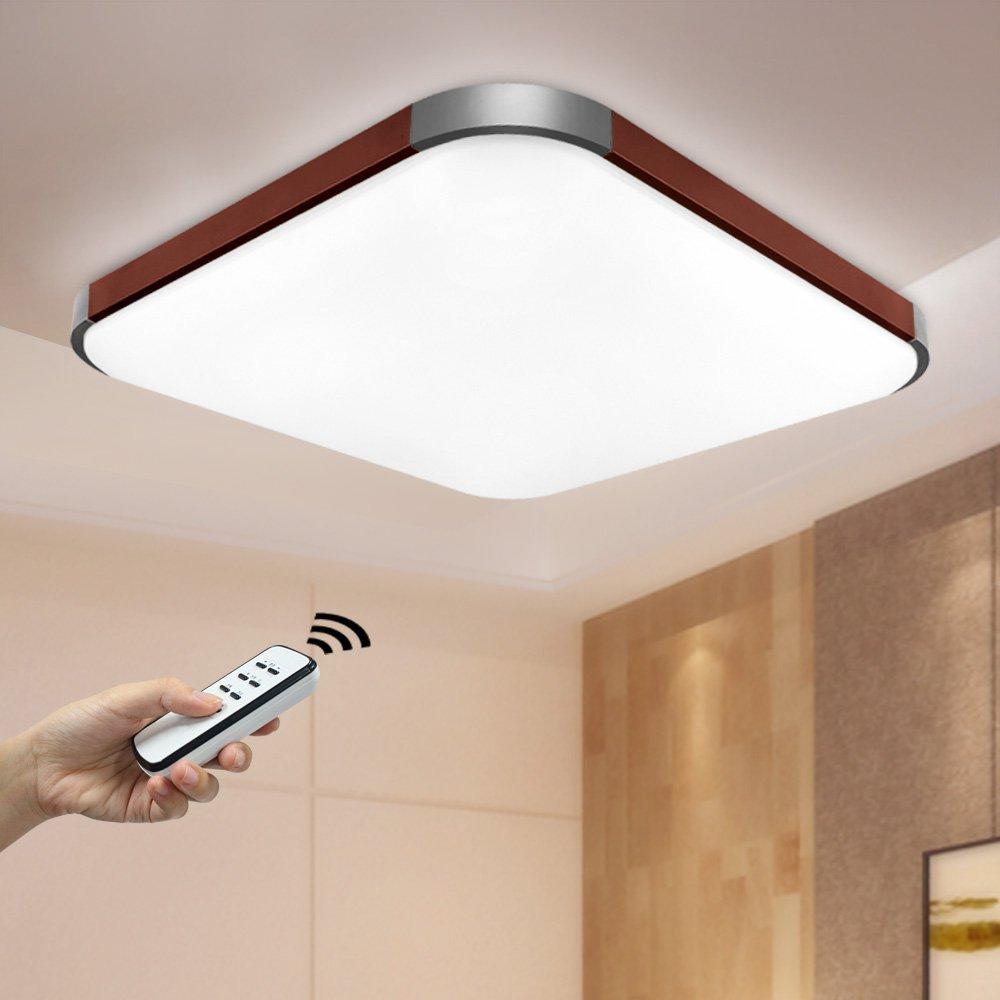NatsenR 50W LED Deckenlampe Modern Wandlampe Braun Deckenleuchten Dimmbar Mit Fernbedienung 650650 105 Mm I501H Amazonde Beleuchtung