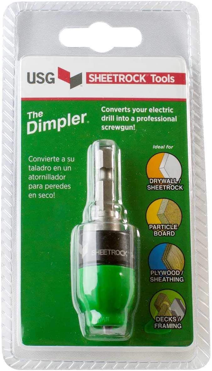 USG Sheetrock 'The Dimpler' Drywall Screw Setter Bit - Reversible with Clutch - -