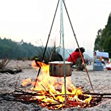 Outdoor Camping Picnic Cooking & Lantern Tripod. Camp Fire Tripod Dutch Oven Pot - Best Reviews Guide