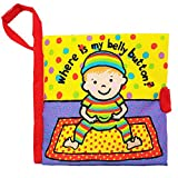 Rolina Baby Soft Cloth Book Bedtime Educational Toys(Where is My Belly Button)